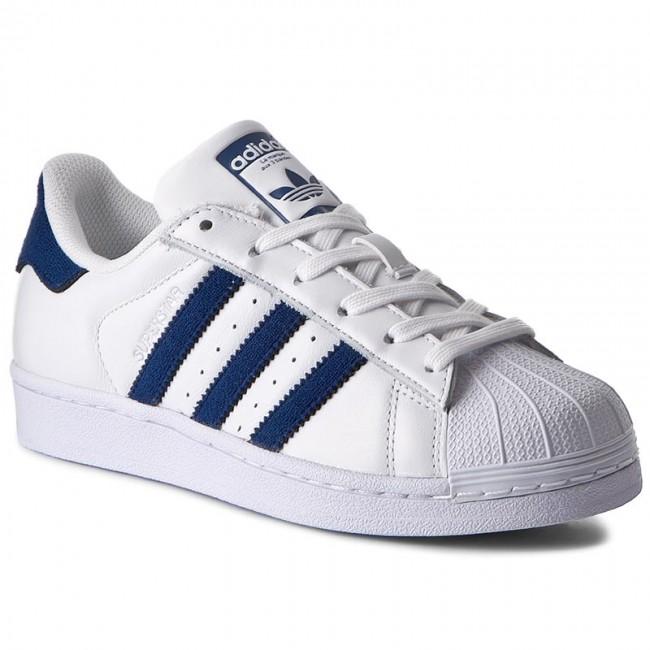 adidas superstar bianco blu