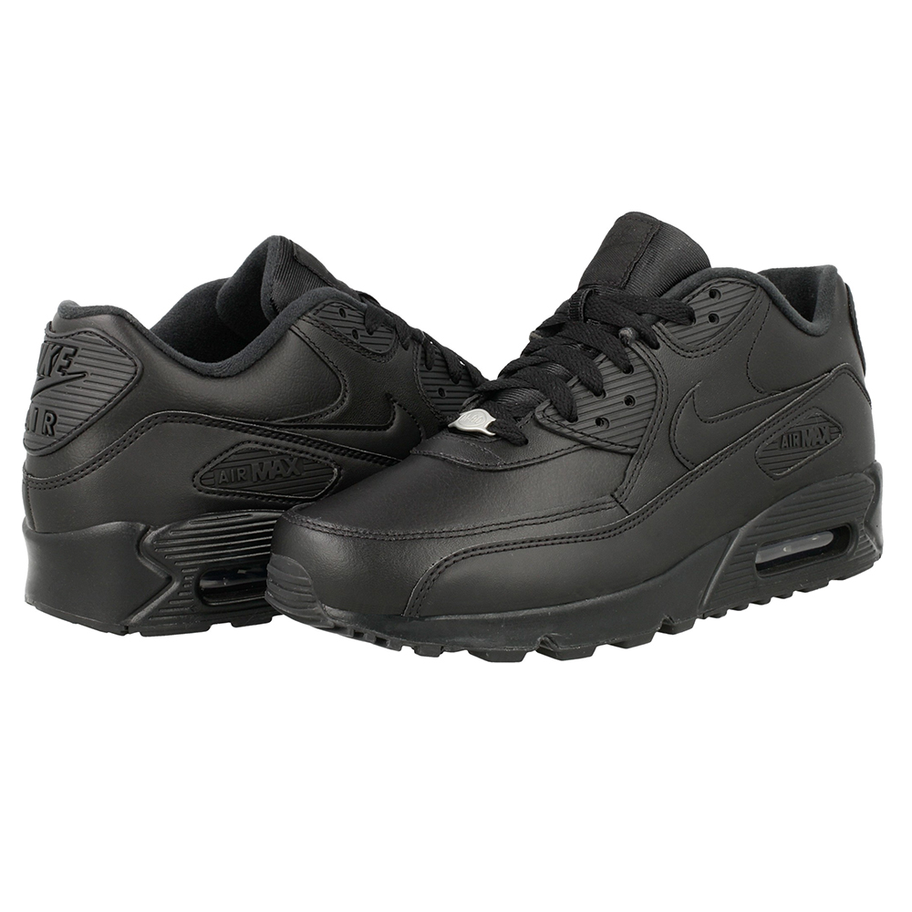 Scarpe sportive Uomo Nike Air Max 90 Leather 302519 001 Nera Pelle